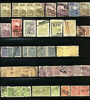 Denmark range of railway stamps upto 900ore (v) Used Stamps