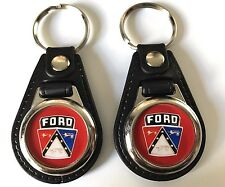 FORD CREST KEYCHAIN 2 PACK RED