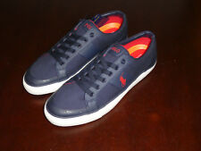 Polo Ralph Lauren IAN SK VLC blue canvas mens shoes boat sneakers new