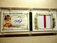 2017 topps allen & ginter mike trout auto relic book card rare 1/10 angels mint