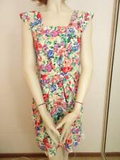 TIMELESS By VANESSA TONG Yellow Cotton Floral Dress Sz 8