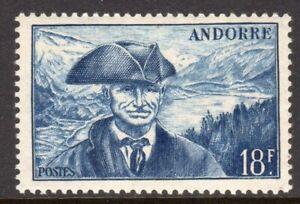 Andorra, French Administration Scott #111 VF Unused 1948 18F Deep Blue Provost
