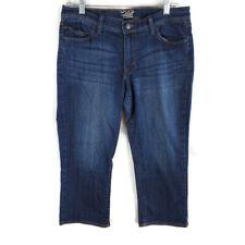Old Navy The Flirt Cropped Capri Jeans Womens Size 8 Denim Blue Low Rise Stretch