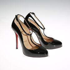 5368e502b467 Christian Louboutin T-Strap High Heels Pump Mary Janes Patent Black Size 36  US 6