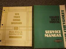 1978 Chevy C10 C20 C30 K10 K20 K30 Electrical Wiring Diagrams & Service Manual