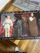 "Star Wars 3 pack Hong Kong Commemorative Edition 12"" Luke Vader Obi Wan NISB"