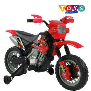 Kids Electric Ride On Motorbike Stabilisers Children Bike Toy Battery Powered Uk