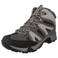 Mens Hi-Tec Black/Grey/Red Waterproof Walking Boots Style CONDOR WP