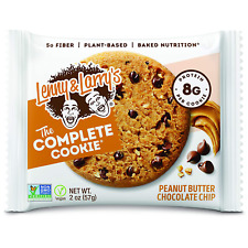 Lenny & Larry's Peanut Butter Chocolate Chip Baked Cookie, 8g Protein Vegan 12pk
