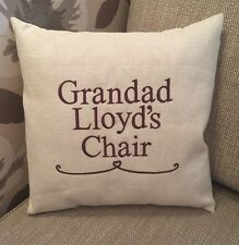 Laura Ashley Natural Austen Fabric GRANDAD Named Cushion Cover Embroidered
