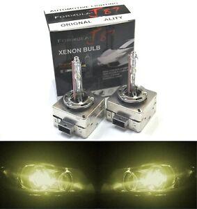 HID Xenon D1S Two Bulbs Head Light 3000K Yellow Bi-Xenon Replace Low High Beam