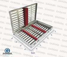 DENTAL INSTRUMENT AUTOCLAVE STERILIZATION CASSETTE TRAY RACKS BOX HOLD 10 PCS