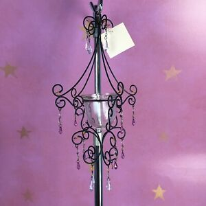NWT Purple Victorian Votive Hanging  Candle Holder