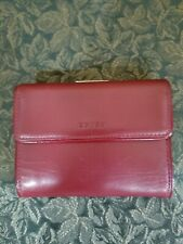 Coach Burgundy Leather Small Wallet