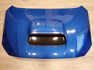 2015-2019 Subaru Wrx Sti Aluminum Hood Bonnet With Scoop OEM WRB Blue K7X