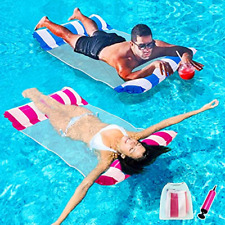 Inflatable Pool Floats for Adults - 2 Packs Portable Water Hammock Pool Floats a