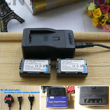 TWO Battery&Charger for PANASONIC PV-D401 PV-DBP8 PV-DBP8A AG-HVX200P DZ-MX5000
