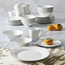 40-Piece Ceramic Everyday Dinnerware Set Round Plates Bowls Mugs 8-Place Setting