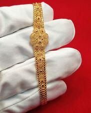 "GOLDSHINE BRACELET 22K SOLID YELLOW GOLD 6.5"" - 7.5"" ADJUSTABLE HOOK WOMEN TEENS"