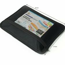 A4 CANVAS TWIN ZIPPER BAG OFFICE DOCUMENTS WALLET  FILING HAND BAG - BLACK