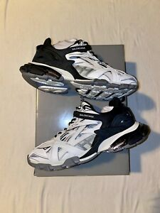Mens Balenciaga Track 2 Runners Sneaker Black/White 568614w2gn31090