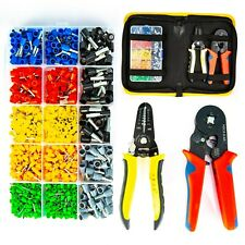 Ferrule Wire Terminal Block Crimping Tool Plier Tool Kit Set, with Wire Cutter