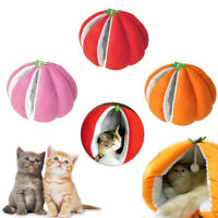 Pumpkin-shaped Pet Winter Nest Soft Cat Dog Kennel Sleeping Bed House Xmas Cave