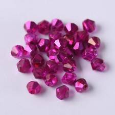 3mm 4mm 6mm Half Plated Bicone Faceted Crystal Glass Loose Spacer Beads lot