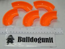 """Lot of 5 Orange Curved 3"""" Track Only Jumpster Xtreme Marble Mania Techno Gears"""