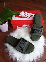 8 Men's Nike Ultra Comfort Slide Sandals Cargo Khaki Black AR4494 300 flip flops