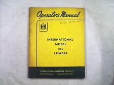 Ih International 250 Loader Operators Manual