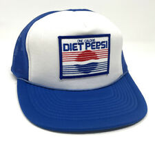 Diet Pepsi One Calorie Mesh Snapback Trucker Hat Cap Embroidered Patch