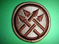 US Army 220th MILITARY POLICE BRIGADE Desert Tan Merrowed Edge Patch