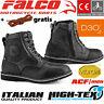 FALCO Motorradschuhe RANGER schwarz CE Stiefel Protektor +gratis Schnürsenkel 43