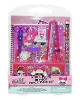 LOL Surprise school supplies 10 piece pencil case set Folder Notebook series 4 5