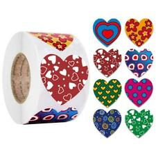 500pcs Heart Shaped Seal Labels Stickers for Birthday Wedding Party Gift Package
