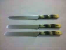 3x Tischmesser GOODWELL in Horn mit GLATTSCHLIFF (700) - Frühstücksmesser
