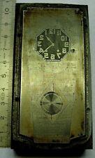 Plaque Imprimerie horloge clock uhr tiges regulateur carillon pendule no odo 22