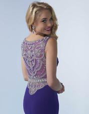 Splash Grad Prom Dress J437 Purple Size 10 NWT