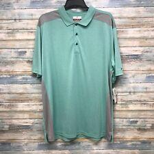 Grand Slam MEN'S Golf Polo Shirt LT On Course Performance Light Green Gray