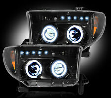 2008-2013 Toyota Sequoia Projector Headlights Smoked Lens w/ LED Halos & DRLs