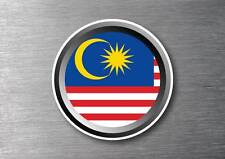 Malaysia flag sticker quality 7 year water & fade proof vinyl car ipad
