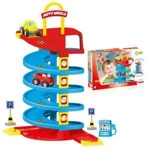 Dolu Kids Spiral Roadway Car Track Play Set w/ 2 Cars Boys Toddler Indoor Toy