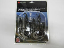 NEW MOTOROLA 1518 2-WAY RADIO SURVEILLANCE HEADSET WITH PTT MICROPHONE (2 SETS)