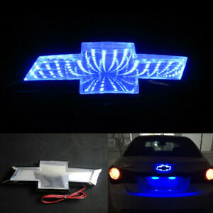 Car Rear Trunk Emblem Blue 3D LED Tail Light Badge for CHEVROLET Cruze Epica