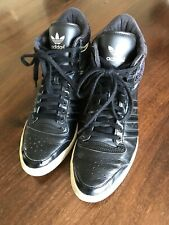 Adidas Sleek Series Schwarz 39,5 Sneaker Samt Leder *K 39 1/2 Hi High Black Top
