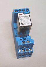Finder Relais 24VDC 7A (55.34.9.024.0040) mit Sockel (94.84.3) und LED Neuwertig