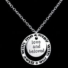 Stay With Me Love and Beloved Pendant Necklace Lover Women Party Fashion Trendy
