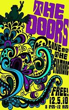 The Doors - Band  Wall  Poster -  24 in x 15 in ( Fast Shipping )