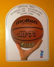 FIBA MOLTEN Official Ball for OLYMPICS 1984 1988 1992 1996 2000 Large Sticker